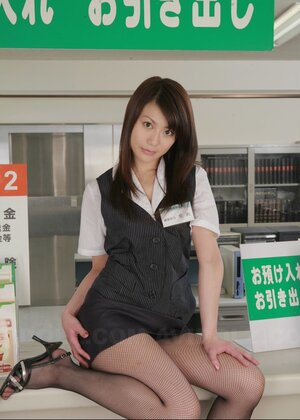 Manager asks Japanese shop assistant to tear tights for a novel advertising campaign