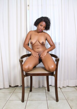 Hot Ebony 18-19 year old Trudy doesn't need her white dress and plus besides panties and plus besides gets rid of them