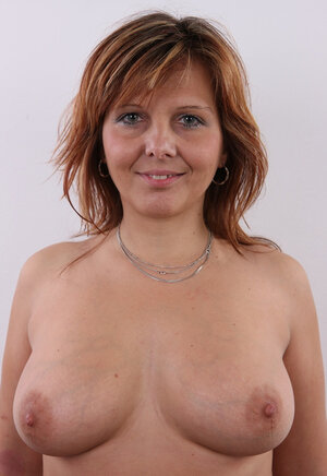 Middle-aged xxx movie star with plump body has really nothing against stripping